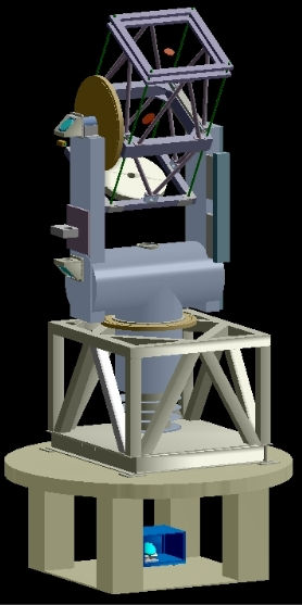 CAD drawing of CHARA telescope (Laszlo Sturmann).