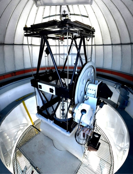 CHARA telescope inside the dome (Steve Golden).